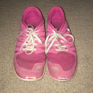 Pink Nike Free Run